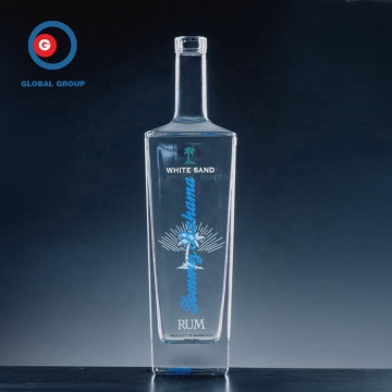 Clear SGS 500ml 700ml 750ml Square Liquor glass bottle