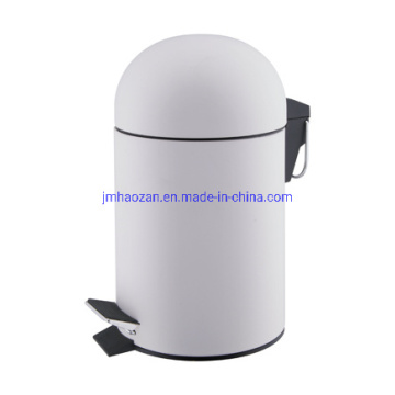 High Quality Stainless Steel Half Round Lid Pedal Wastebin, Dustbin