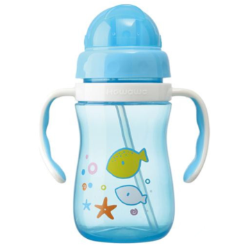 Plastic Infant Water Drinking Bottle Training Cup L