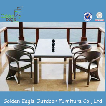 Rattan dining set OEM garden furniture outdoor