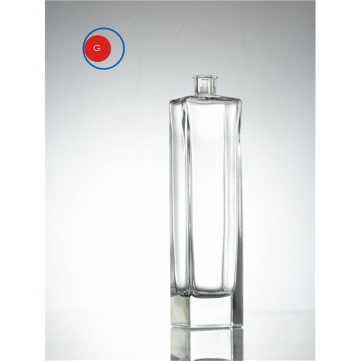 Empty Screen Printing 750ml Vodka Glass Bottle