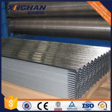 Galvanized coated corrugated iron plate for roofing sheet