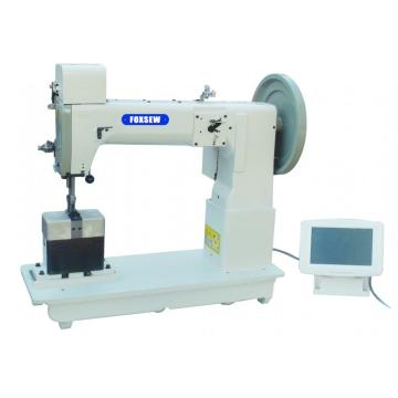 Heavy Duty Post Bed Thick Thread Walking Foot Triple Feed Ornamental Stitching Sewing Machine