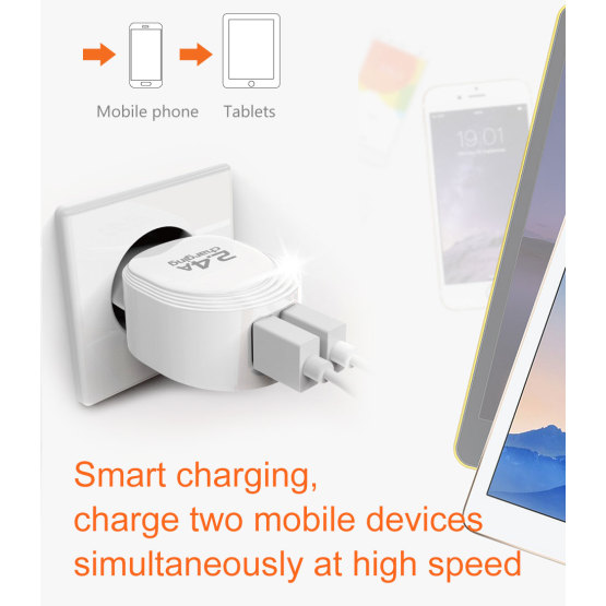 USB Charger EU Charger Adapter Wall Travel Charger