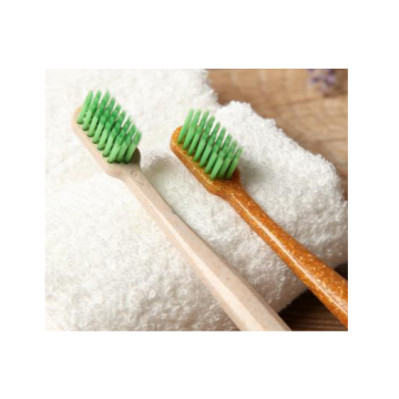 Home Natural Soft Nylon Bristle  Wooden Toothbrush