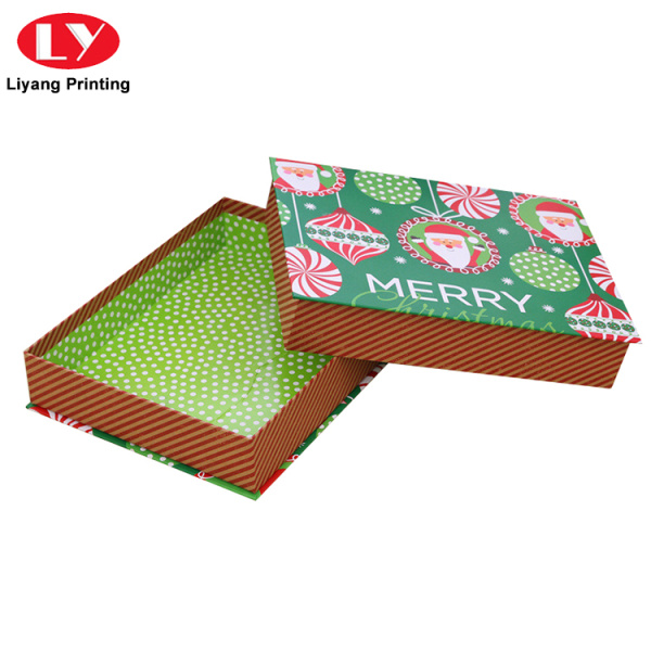 Custom Christmas Decorations Eve Gift Box with Lid