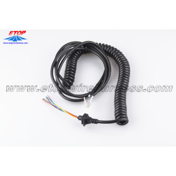Coiled ethernet cable with customized SR