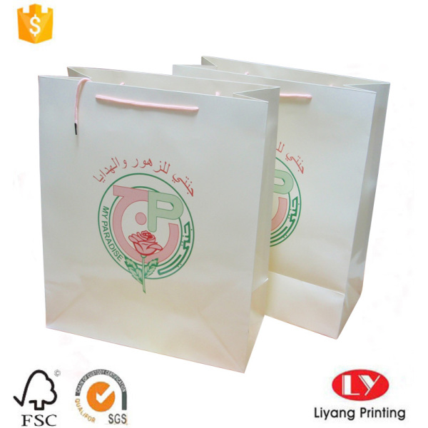 white paper shopping clothes packaging bag