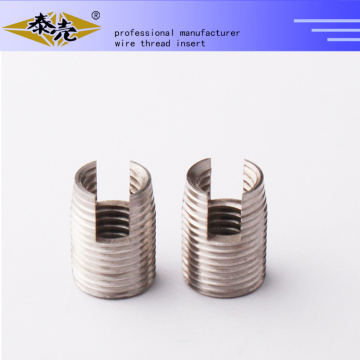 302 self tapping threaded inserts with cutting bores