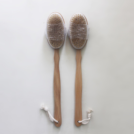 Removable Wooden Bath Brush