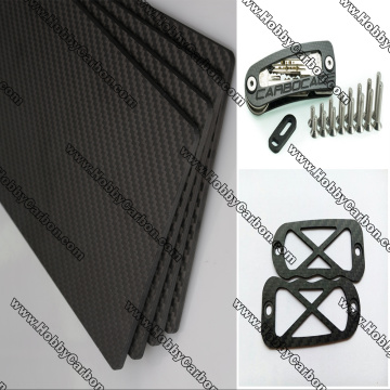 CNC 3k twill matte carbon fiber sheet cutting