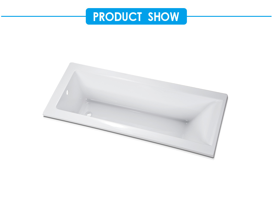 Square Thermaform Drop-in Bath Tub in Acrylic