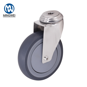 5 Inch Medium Duty Swivel Bolt Hole Castor