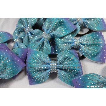 Sublimated Ombre shiny cheer bows supply
