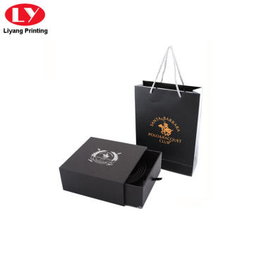 black color drawer packaging belt box package