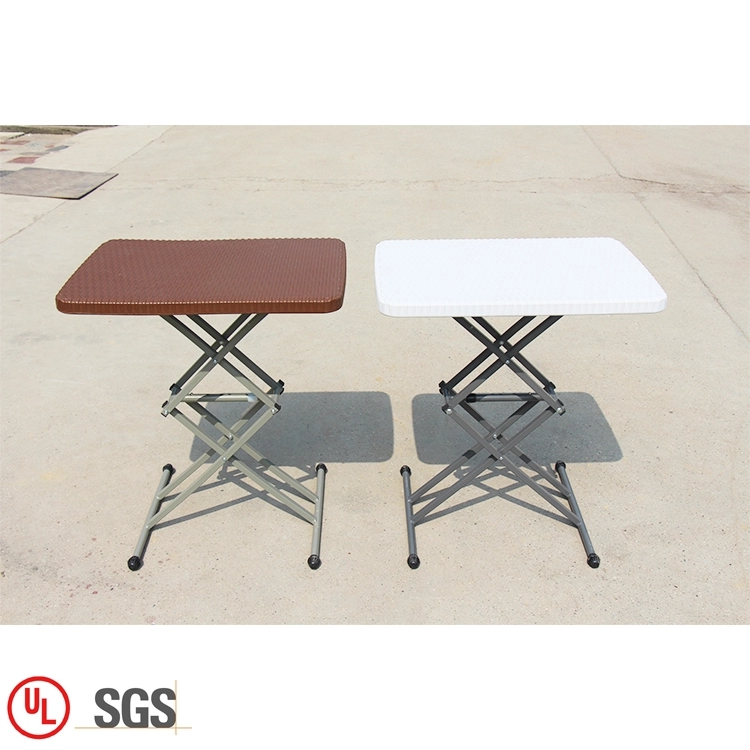Adjust-height Plastic Dining Table