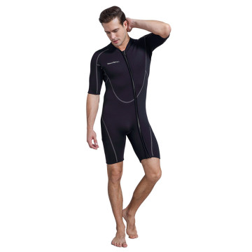 Seaskin Mens Front Zip Short Sleeve Diving Wetsuits