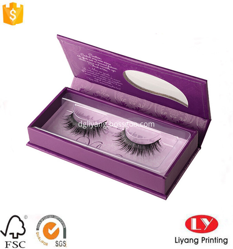 eyelash box with tray