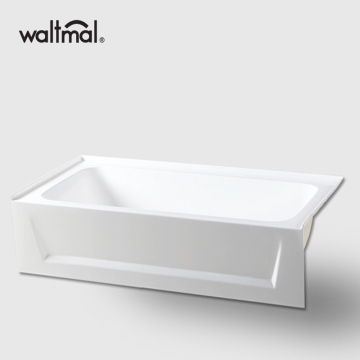 Short Alcove Bathtub in White Acrylic
