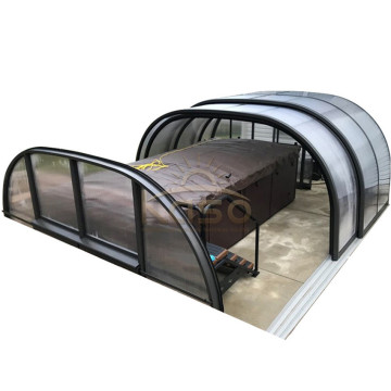 Aluminum Telescopics Retractable Swimming Pool Enclosures