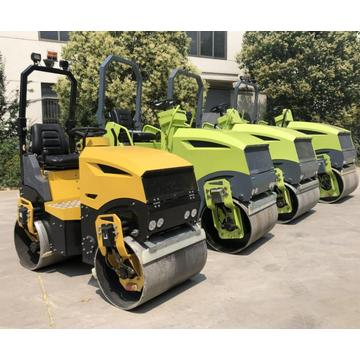 Road construction equipment roller compactor
