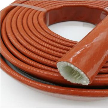 Large Diameter Silicone Rubber Coated Fiberglass Fire Sleeve