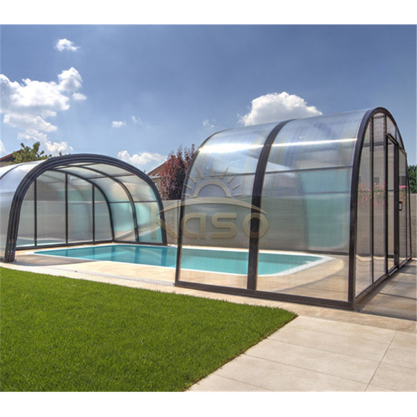 Retractable Swimming Pool Enclosure Cover And Roof
