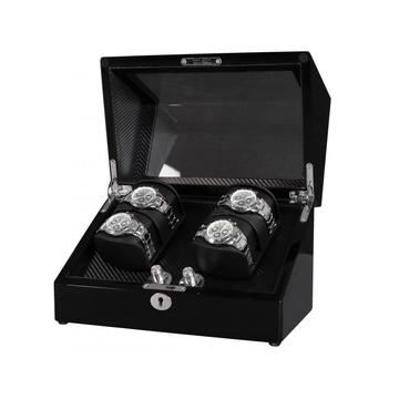 Double Rotors Perpetual Motion Watch Winder With LED