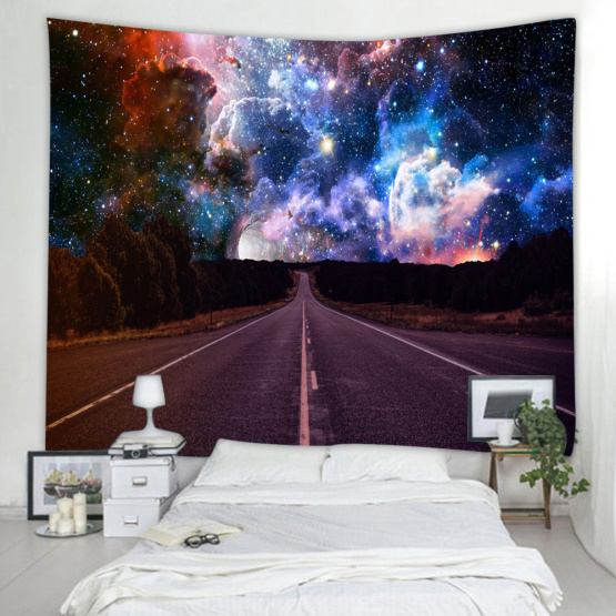 Starry Tapestry Galaxy Tapestry Road to The Night Sky Wall Hanging 3D Printing Tapestry Psychedelic Wall Art for Living Room Bed