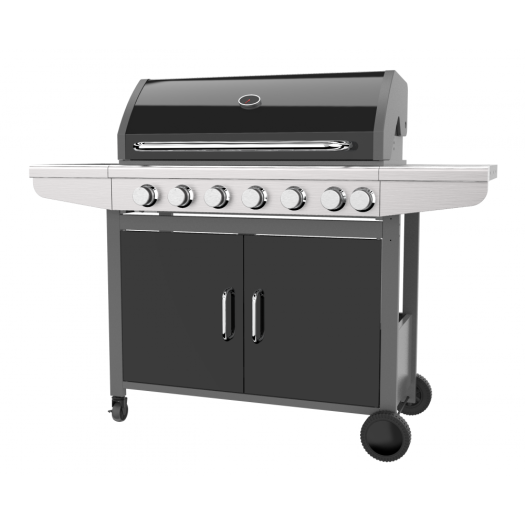 Six Burner Gas Barbeque Grill With Side Burner