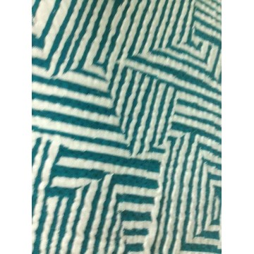 Polyester spandex jacquard knit fabric