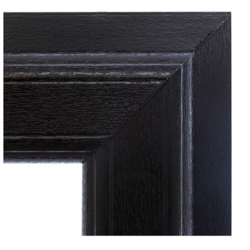 Black Color UPVC Windows Profiles