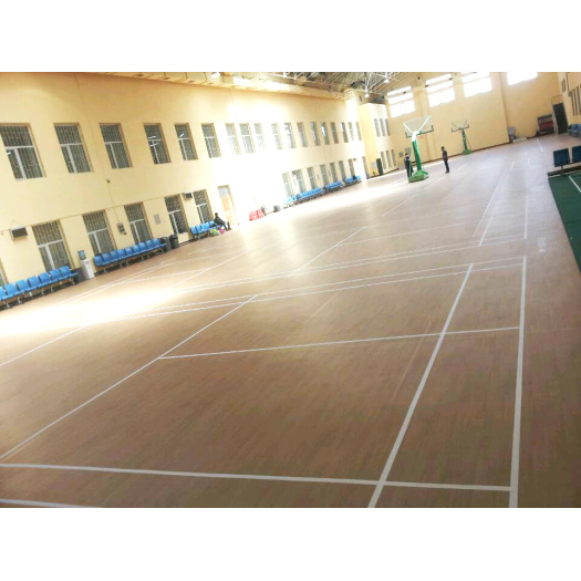 Anti-slip basketball indoor floor