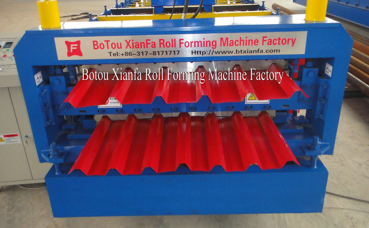 wall and roof panel sheet roll forming machine