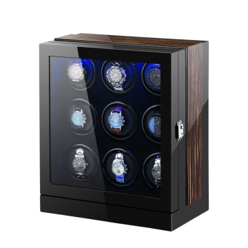 Nine Rotations Watch Winder With LED Light