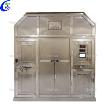 Environmental human cremation machine for funeral supply