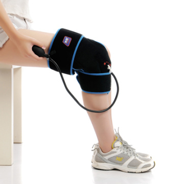 Knee rehabilitation cold compression therapy wrap