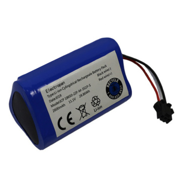 18650 3S1P 11.1V 2600mAh Lithium Ion Battery Pack