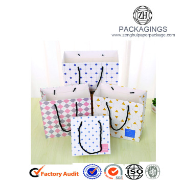 High end art paper shopping bag for gifts