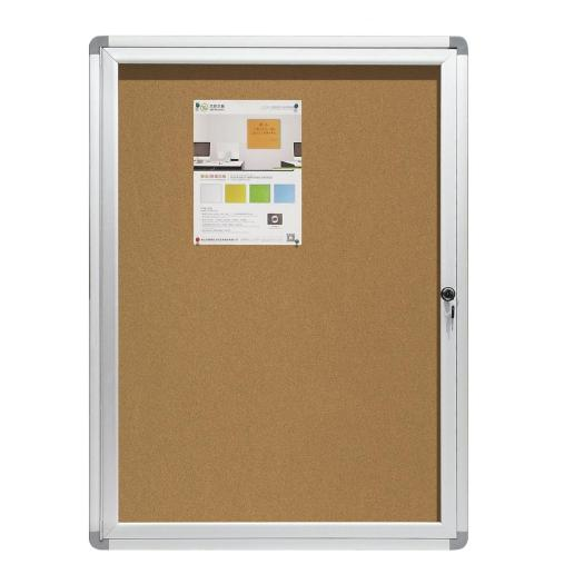 Office open doors bulletin board with aluminum frame