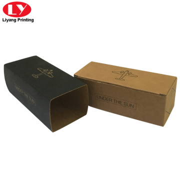 Brown corrugated carton box with sleeve