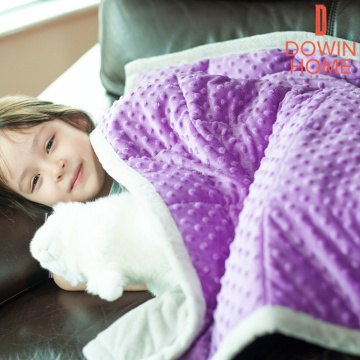 Sherpa Weighted Lap Blanket For Kids