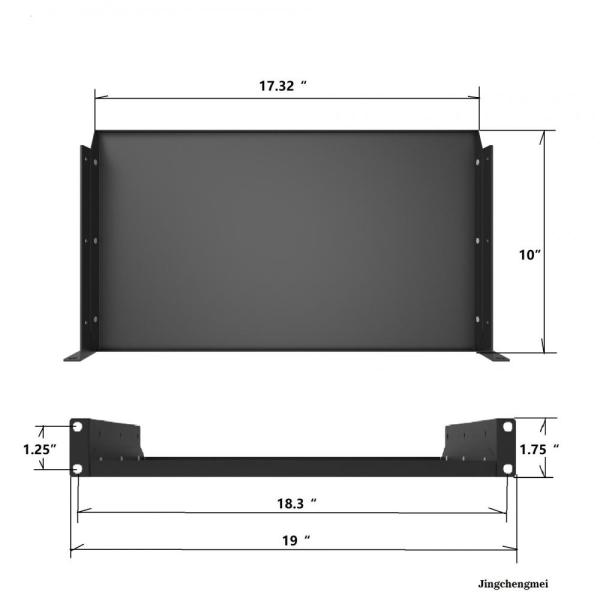 1U Solid Server Rack Shelf 10 Inch Deep