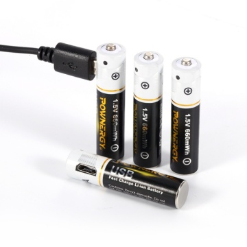AAA Battery 1.5v Rechargeable USB Charger