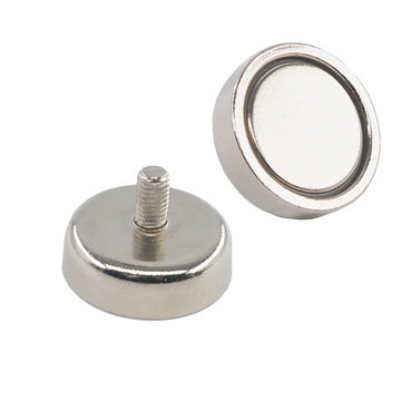 Magnetic Round Base with outside thread rods