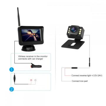 4.3inch Wireless Rear Camera Kit with Night Vision