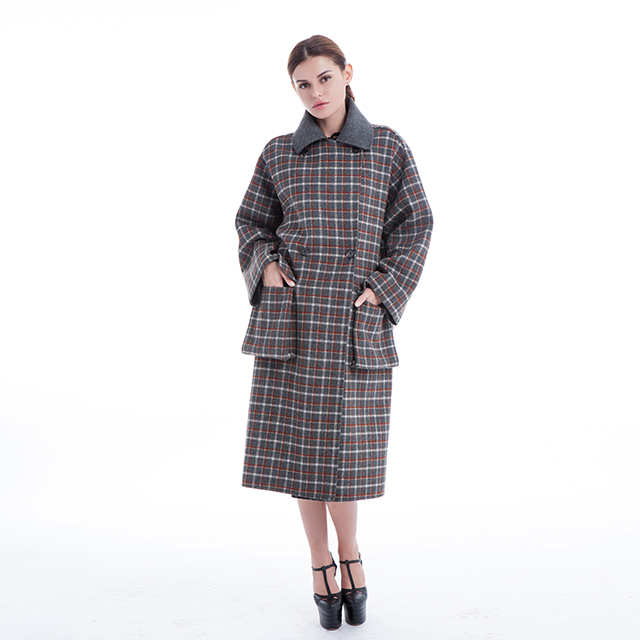 Check new cashmere coat