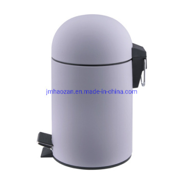 Half Round Stainless Steel Lid Quality Pedal Wastebin