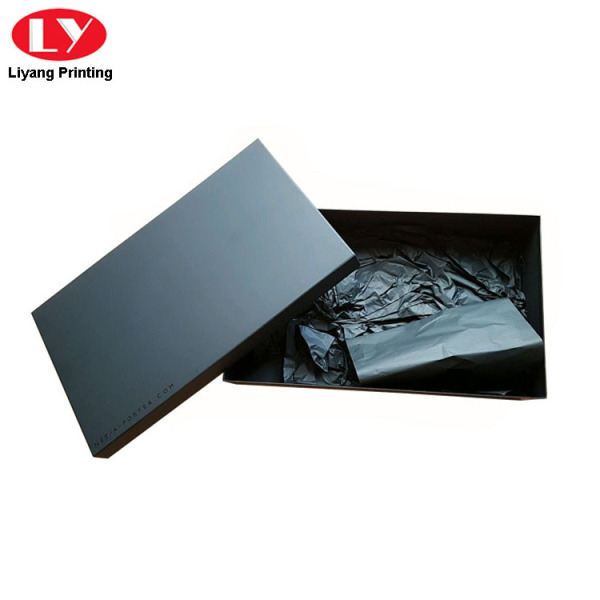 Matte Black Cardboard Jewelry Box Packaging