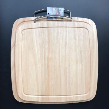 Rubber wood square cutting board